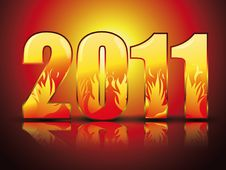Free New Year Background With  Stylized Figures Royalty Free Stock Image - 16418506