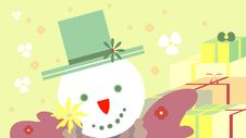 Free Christmas Snowman With Gifts Royalty Free Stock Photo - 16418825