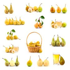 Free Set Of Pears Stock Image - 16418861