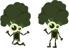 Green  Emotion Broccoli Stock Image
