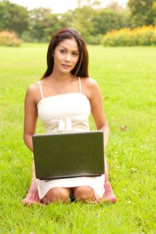 Free Woman With Laptop Stock Image - 16419431