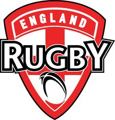 Rugby Ball England Flag Stock Photo