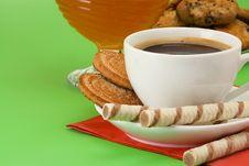 Free Coffee, Honey And Cookies Stock Photos - 16419643