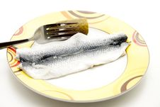 Rolled Up Pickled Herring Stock Image