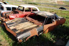 Car Graveyard Royalty Free Stock Photography