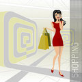 Free Shopping Woman Royalty Free Stock Images - 16427109