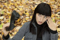 Free Young Pretty Woman On The Autumn Leaf Royalty Free Stock Photos - 16428898