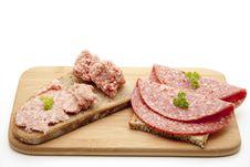 Free Mead Sausage And Salami Stock Image - 16420471