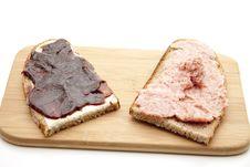Free Mead Sausage And Jam Stock Photos - 16420503