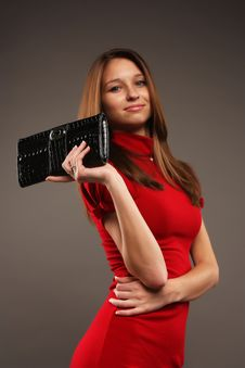 Free Lady With Purse Royalty Free Stock Photos - 16420598