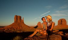 Free Love In Monument Valley Royalty Free Stock Photo - 16421175