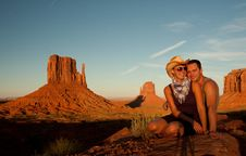 Free Smiling In Monument Valley Royalty Free Stock Photos - 16421188