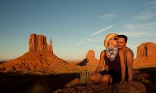 Free A Kiss In Monument Valley Stock Images - 16421194