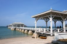 Free Pavilion In Sri Chang Island, East Of Thailand Stock Images - 16421214