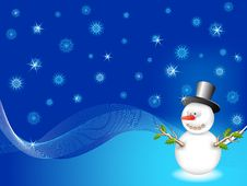 Free Vector Snowman Stock Image - 16421451