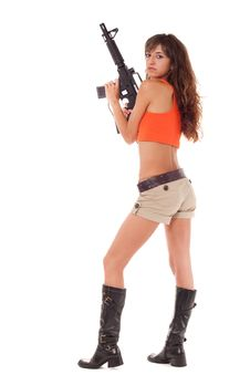 Free Armed Girl Posing Royalty Free Stock Images - 16421559