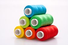 Free Colored Thread For Sewing Royalty Free Stock Photo - 16421565