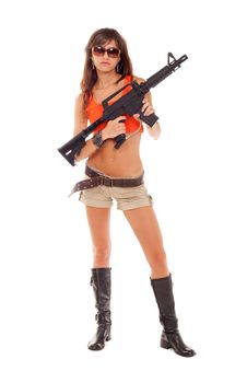Free Armed Girl Posing Royalty Free Stock Photography - 16421577