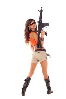 Free Armed Girl Posing Royalty Free Stock Photos - 16421618
