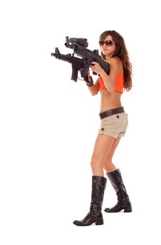 Free Armed Girl Posing Stock Photography - 16421632