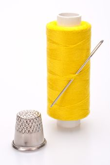 Spool Of Thread For Sewing Stock Photos