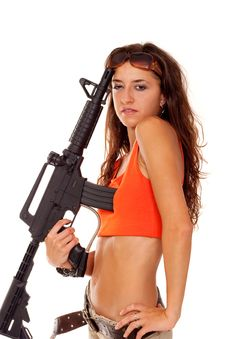 Free Armed Girl Posing Stock Photo - 16421650
