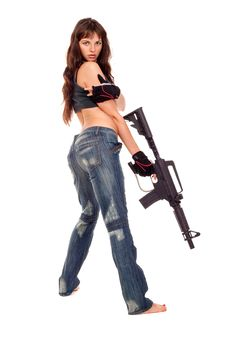 Free Armed Girl Posing Stock Photography - 16421652