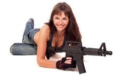 Free Armed Girl Posing Royalty Free Stock Images - 16421669