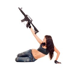 Free Armed Girl Posing Royalty Free Stock Photo - 16421675
