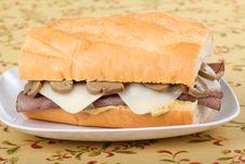 Free Roast Beef Sandwich Royalty Free Stock Photography - 16422097