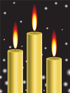 Free Gold Candle Royalty Free Stock Images - 16422379