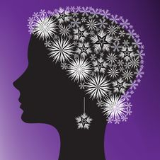 Silhouette Of A Woman S Head Royalty Free Stock Images
