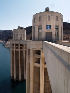 Free Hoover Dam Turrets Royalty Free Stock Photo - 16423055