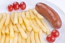 Free Fried Potato With Tomatoes Royalty Free Stock Photos - 16423148