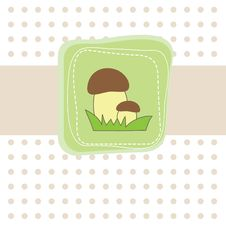Free Simple   Card With Mushroom. Vector Stock Photography - 16425352