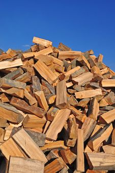 Fire Wood Fallen Down On A Heap. Royalty Free Stock Photo