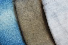 Free Three Color Jeans Pile Background Texture Royalty Free Stock Photography - 16425497