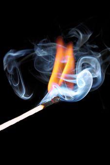 Free Burning Match Stock Photography - 16425522