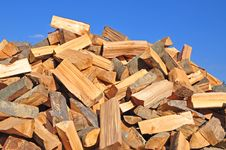 Free Fire Wood Fallen Down On A Heap. Stock Images - 16425544