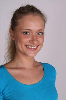 Free Woman Face On White Stock Photos - 16425823