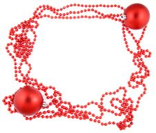 New Year Frame With Two Red Balls Stock Photos