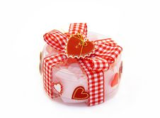 Free Transparent Gift Box With A Red Bow And Hearts Royalty Free Stock Images - 16426299