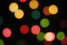 Free Defocus Of Colorful Lights. Royalty Free Stock Image - 16426796