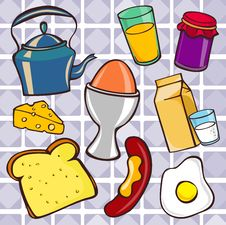 Free Breakfast Icons Royalty Free Stock Image - 16427556