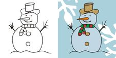 Free Cute Snowman Royalty Free Stock Photography - 16427667