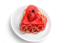 Free Cake With Strawberry Topping Royalty Free Stock Photo - 16428025