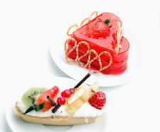 Free Cake With Strawberry Topping Stock Image - 16428031