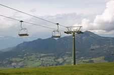 Free Chair-lift On A Cloudy Summer Day Royalty Free Stock Images - 16428179