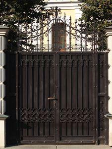 Metal Gate Royalty Free Stock Images