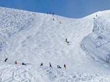 Free Skiing Slope Stock Image - 16428561